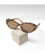 JC GL6 Jimmy Crystal Brown Cat Eye Sunglasses w/ Swarovski Crystals  - $189.99
