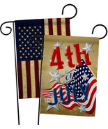 4th of July - Impressions Decorative USA Vintage - Applique Garden Flags... - $30.97