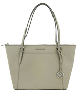 Michael Kors Ciara Shopper Tote Bag Cement Grey Large Leather Handbag  - $295.94