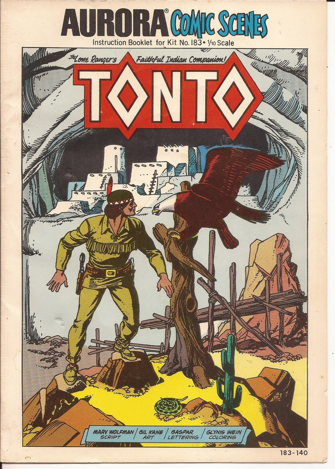 Primary image for Aurora Comic Scenes Tonto Instruction Booklet for Kit #183 Lone Ranger Sidekick
