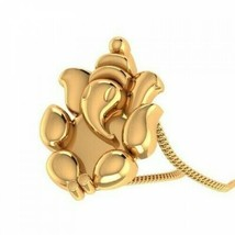 14k Yellow gold Indian Religious Lord Ganesha Pendant Jewelry 8179 - $234.14