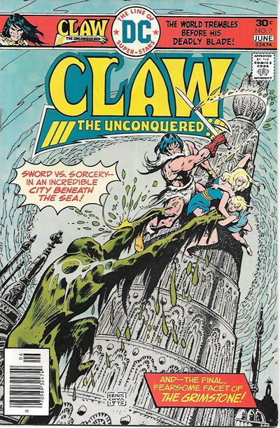 Claw The Unconquered Comic Book #7, DC Comics 1976 VERY FINE+