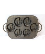 Rowoco Cast Iron Statue of Liberty Muffin Biscuit Pan Mold - $65.33