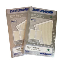 """Lot of 2 Day Runner Lined Pad  5½"""" × 8½"""" 30 Sheets Per Pack 3 & 7 Ring #... - $17.75"""