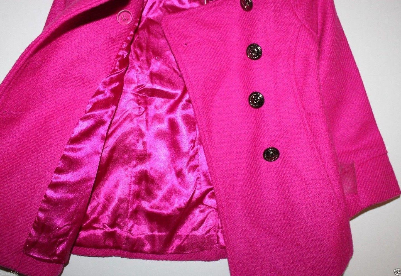 Gap Kids NWT Girl's XXL 13 Pink Boucle' Wool Blend Pea Coat Jacket image 6