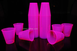 Pink  Blacklight Reactive 2oz Shot Glasses 50ct - $8.95