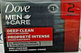 2 Dove Men's Care Deep Clean Face and Body Soap 113 Grams each (113g x 2 = 226g) - $15.35