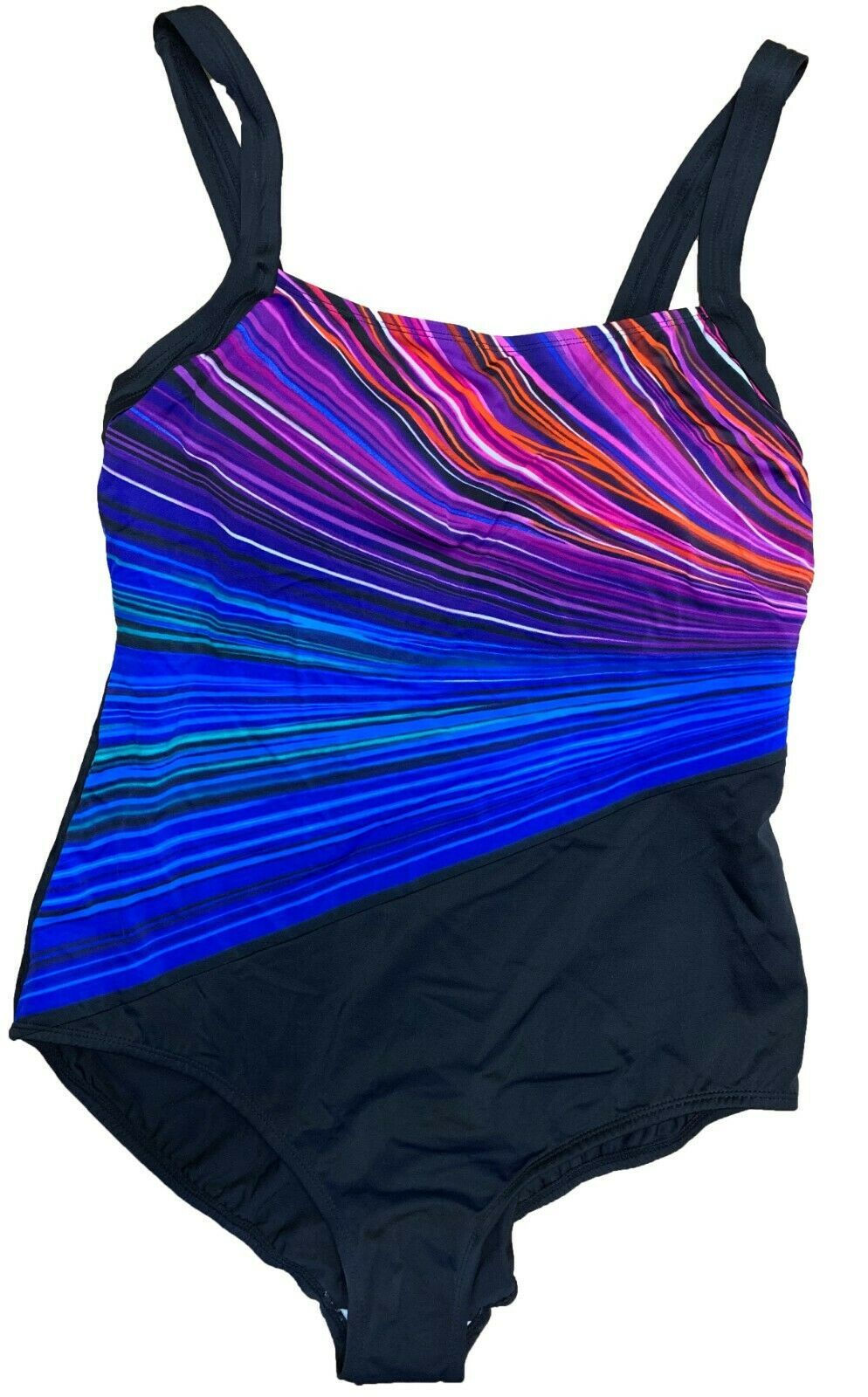 Primary image for Reebok Women's Multi Colors then Black One Piece Swimsuit Multi Colors/Black