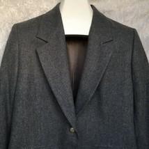 Pendleton Woolen Mills Virgin Wool Blazer Womens Petite Size 12 Gray - $34.64