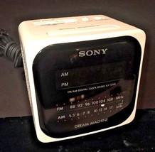 Vintage Sony Dream Machine White Cube AM/FM Ala... - $17.72