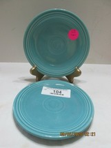 "2 Fiestaware  6"" Dessert Plate  AQUA/TURQUOISE  Marked (2) - $9.90"