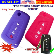 Silicone Entry Cover Case Fob Protector for Toyota Corolla 2020 Camry Fold Key - $12.84