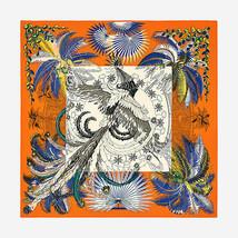 Hermes Shawl Scarf Stole Mythiques Phoenix Coloriage Orange Cashmere Sil... - £1,035.05 GBP