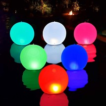 Swimming Pool Lights Floating Ball Light Solar Powered 1 Pcs, 14 Inch  - $37.99