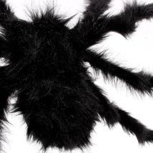 1PCs Fake Spider Prank Gift New Halloween Horrible Big Black Furry Spider Decor image 5