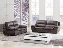 American Eagle EK-B113-DC Dark Chocolate Sofa Loveseat Genuine Leather 2... - $1,699.00
