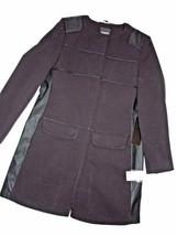 BEBE black Winter JACKET Pea coat LONG LARGE  L - $126.17