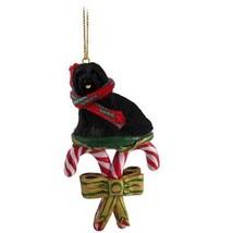 Conversation Concepts Lhasa Apso Black Candy Cane Ornament - $15.99