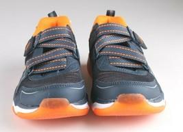 Skechers Boys S Sport blue orange Orin Hook & Loop Slip-on Sneaker Shoes 2 NWT image 2