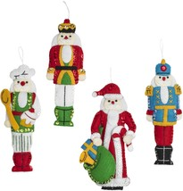 Bucilla Hallmark Felt Ornaments Applique Kit Set Of 6-Santa Nutcracker - $19.27
