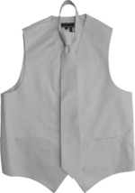 Men's Solid Color Adjustable Dress Vest & Neck Tie Set for Suit or Tuxedo image 15