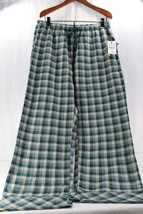 Woolrich Pemberton Lounge Pant XL Women's Sleepwear Green Plaid Relaxed NWT - $24.99