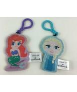Hallmark Disney Princess Lot of 2 Ariel and Elsa Plush Keychains Backpac... - $9.85