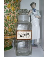"Highly Collectible~Rare Glass Label (LUG) Apothecary Bottle~1800's~10"" Tall - $469.99"