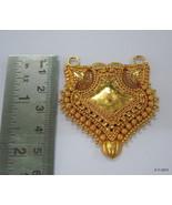 20k gold pendant necklace hanmade gold jewellery vintage tribal jewellery - $1,632.51
