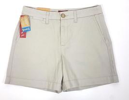 Merona Women Sz 4 Fit 1 Below Waist Relaxed Hip 5 Pocket Style Tan Short... - $11.29