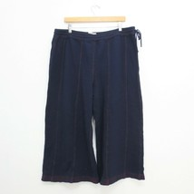 XL - Saturday Sunday Anthropologie Navy Soft Wide Leg Cropped Pants NEW 1122CT - $200.00