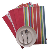 Cotton Placemats Sunset Stripes 4/pack - $14.89