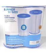 Summer Waves Swimming Pool Filter Cartridge, Universal Type B (2 Pack) - $39.79