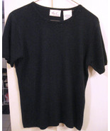 KATHIE LEE EMBELLISHED Black SWEATER GLASS BEAD Classy Knit Top size MEDIUM - $19.75