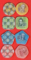 TRANSNISTRIA PMR 1 3 5 10 Rubley 2014 SET 4 Plastic COINS Moldova Uncirculated image 3