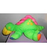 TD Trading Company Dinosaur Nylon Puff Plush Stuffed Animal Neon Green P... - $29.68