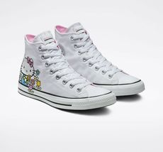 Converse x Hello Kitty Chuck Taylor All Star High Top, 164629F Multi Sizes White image 3