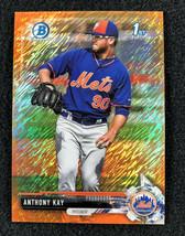 2017 Bowman Chrome Anthony Kay Orange Shimmer Refractor -  #9/25 - $29.69
