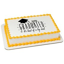 Big Deal Grad Personalizable Edible Frosting Image 1/4 sheet Cake Topper - $13.41 CAD