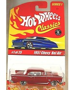 2004 Hot Wheels Classics Series 1 1/25 1957 CHEVY BEL AIR Red Variant w/... - $18.00