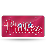 MLB Philadelphia Phillies Laser License Plate Tag - Red - $29.39