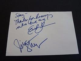 Huffamoose Erik & Jim Band Signed Autographed 4x6 Index Card PSA Guaranteed - $14.99