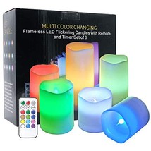 DRomance Color Changing Candles with Remote Set of 6 Battery Operated LE... - $31.25