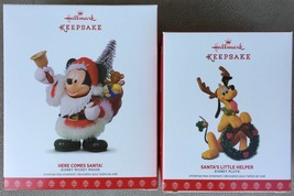 2017 Hallmark Here Comes Santa & Santa's Little Helper Limited Edition S... - $49.95