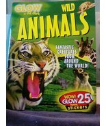 Glow in the Dark Wild Animals Book with Stickers - $2.00
