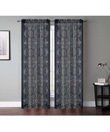 Urbanest 54-inch by 84-inch Set of 2 Bandhini Sheer Drapery Curtain Pane... - $27.71