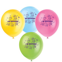 "Shopkins 8 Ct 12"" Latex Balloons Birthday Party - $4.94"