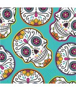 Day of the Dead Skulls Halloween 16 Ct Luncheon Napkins - $3.26