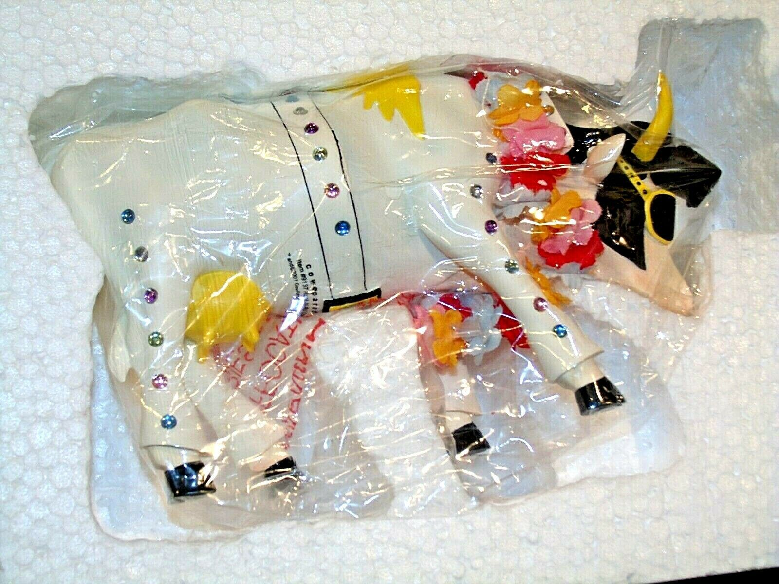 Rock-N-Roll Cow Item # 9137 Westland Giftware AA-191953 Collectible (Resin)