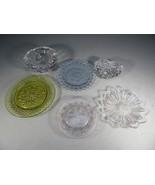 Vintage collection of glassware heart ashtray saucer Mid Century Moderni... - $40.00